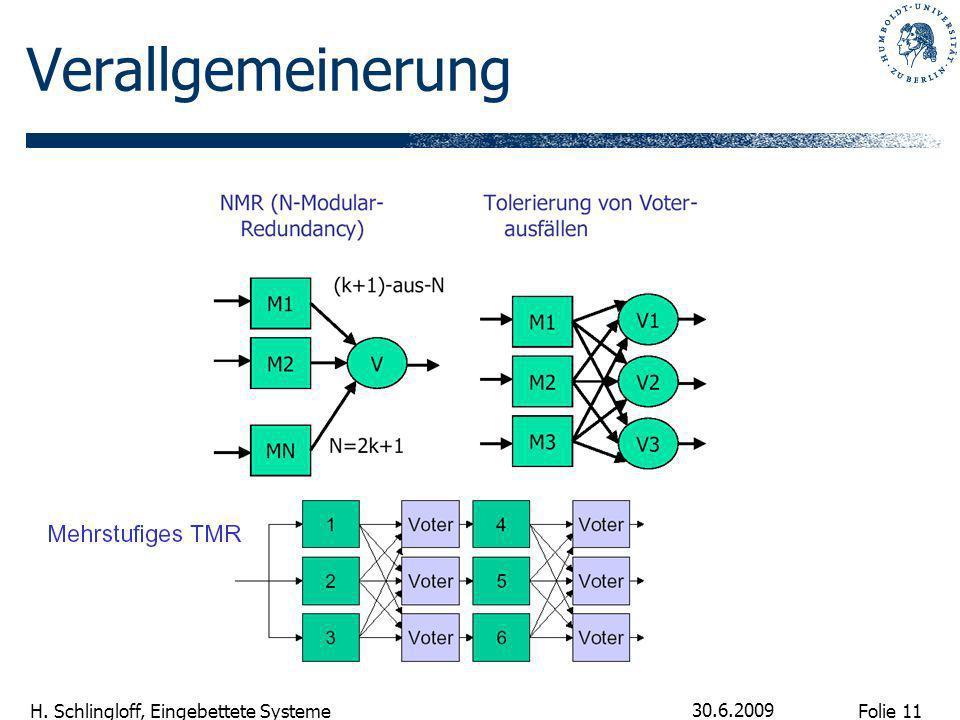 Folie 11 H. Schlingloff, Eingebettete Systeme 30.6.2009 Verallgemeinerung