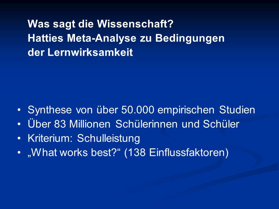 Was ist eine Metaanalyse.