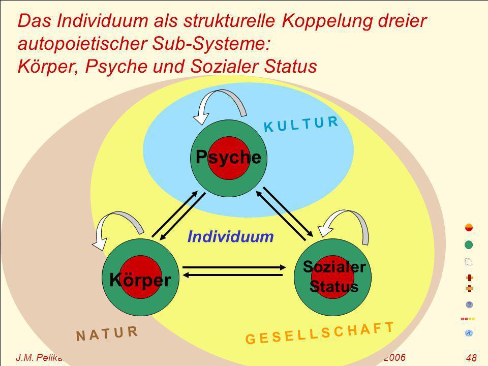 J.M. Pelikan – GF durch OE, Sommerakademie zur Gesundheitsförderung, Magdeburg 2006 48 Das Individuum als strukturelle Koppelung dreier autopoietische