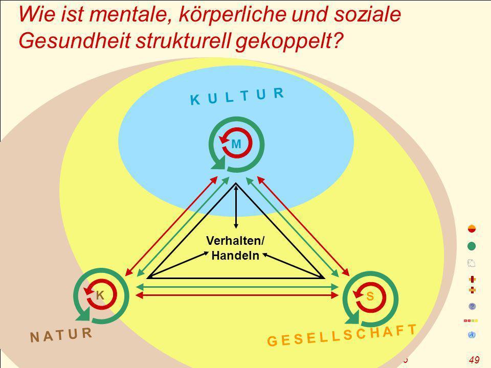 J.M. Pelikan – GF durch OE, Sommerakademie zur Gesundheitsförderung, Magdeburg 2006 49 Wie ist mentale, körperliche und soziale Gesundheit strukturell