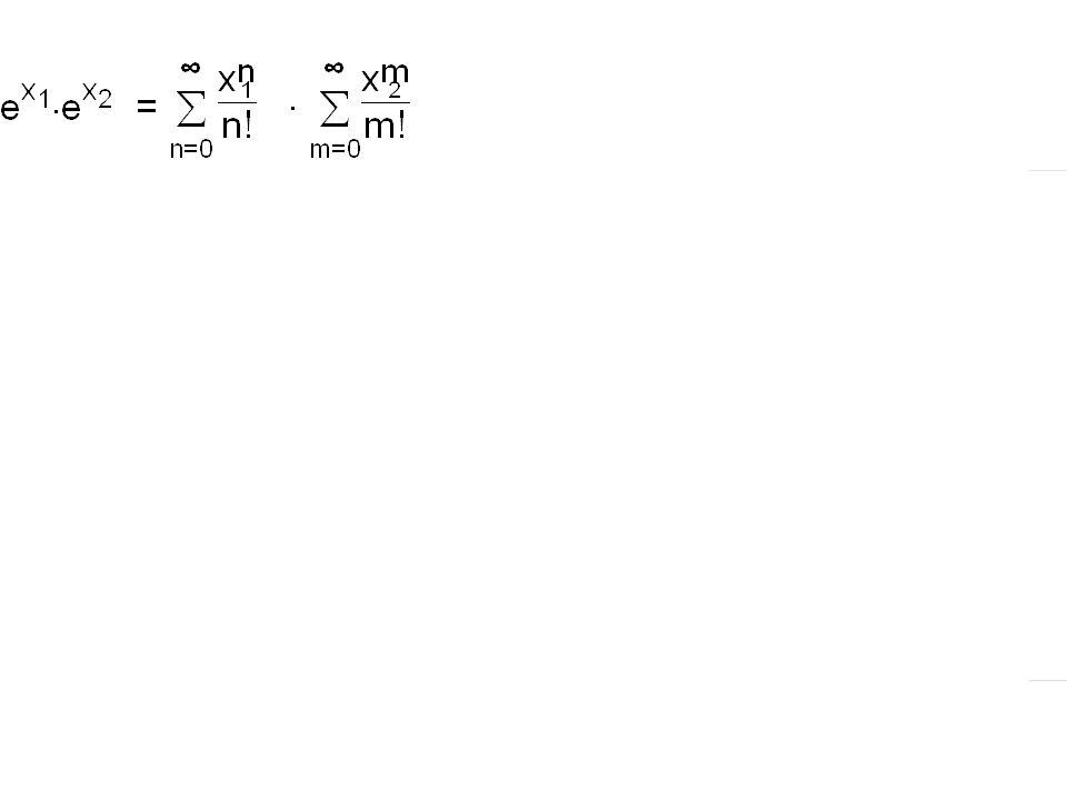 Exponentialfunktion, Logarithmus, Potenz Reihe: Folge: Die Funktionalgleichung lautet: e x 1. e x 2 = e x 1 +x 2 exp(x) e x exp(1) e D =