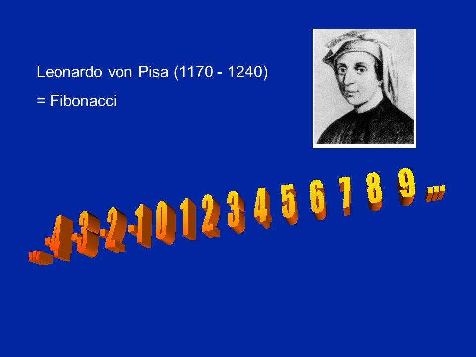 Leonardo von Pisa (1170 - 1240) = Fibonacci
