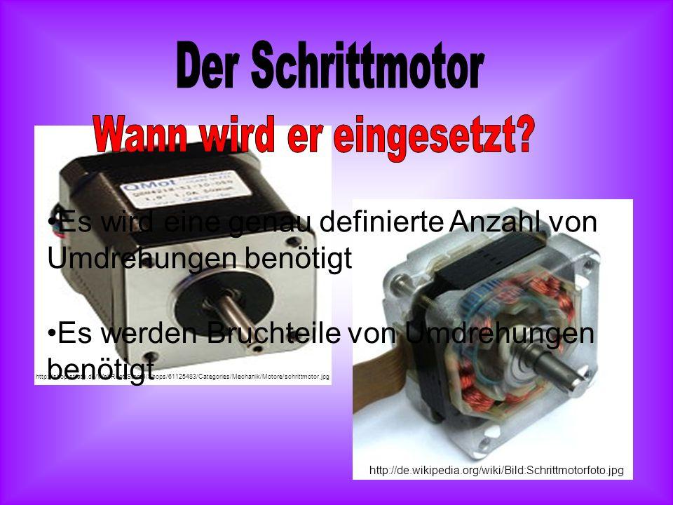 Permanentmagnet als RotorSpulen http://technologie.uni-duisburg.de/tdt/Ideenmarkt/Schrittmotorsteuerung/schritt_aufbau.gif http://tiergarten-lernende.bfh.ch/pdf/kurzvortraege/schrittmotoren.pdf