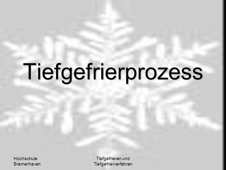 Hochschule Bremerhaven Tiefgefrieren und Tiefgefrierverfahren Tiefgefrierprozess