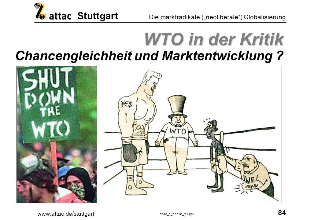 www.attac.de/stuttgart attac_s_neolib_mlr.ppt 85 Die marktradikale (neoliberale) Globalisierung Stuttgart