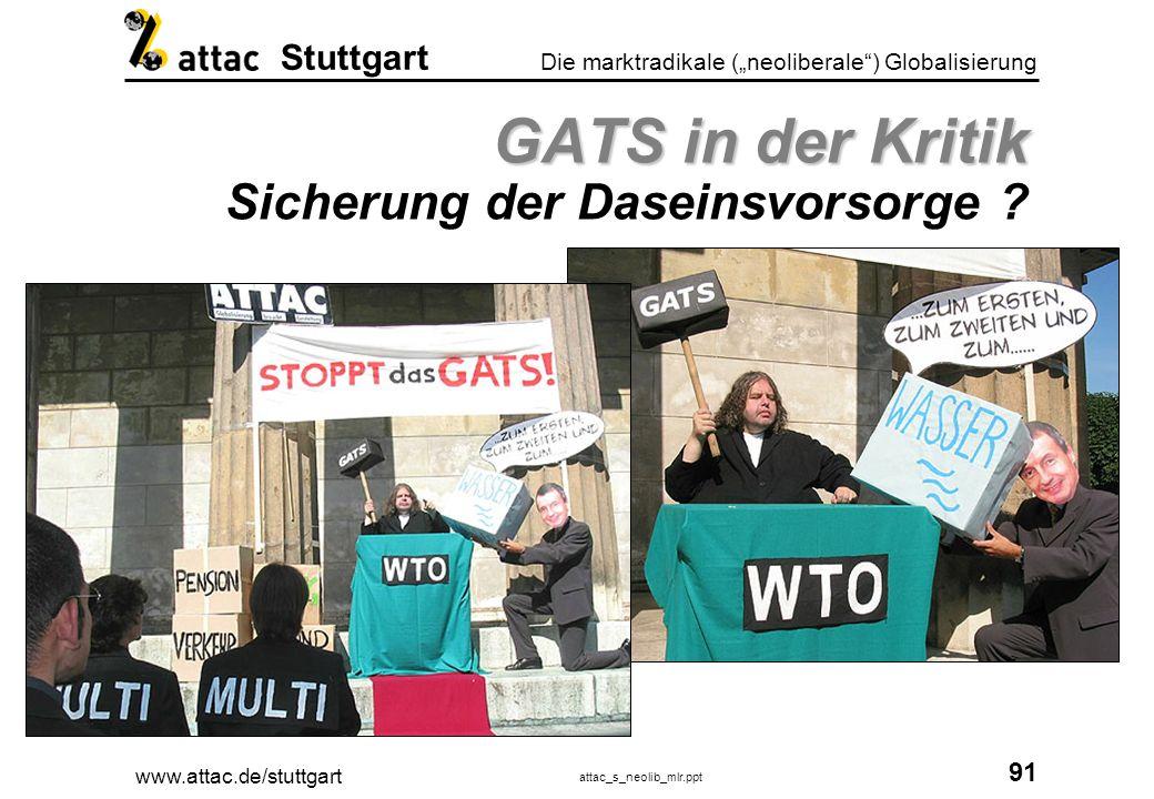 www.attac.de/stuttgart attac_s_neolib_mlr.ppt 92 Die marktradikale (neoliberale) Globalisierung Stuttgart .