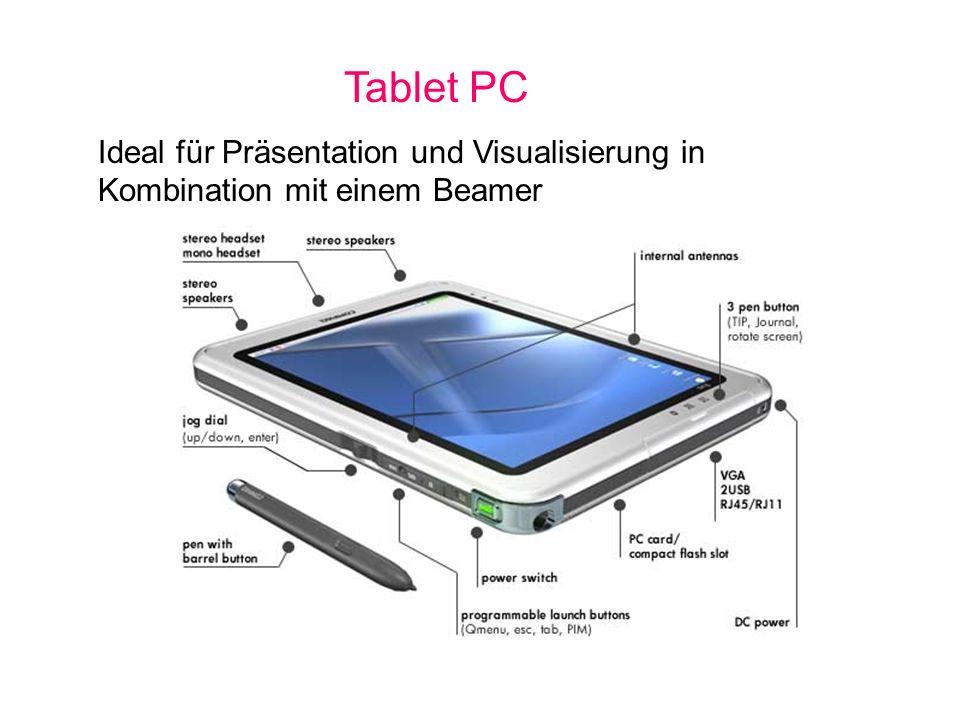 Tablet PC Ideal für Präsentation und Visualisierung in Kombination mit einem Beamer