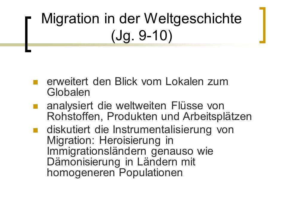 Migration in der Weltgeschichte (Jg.