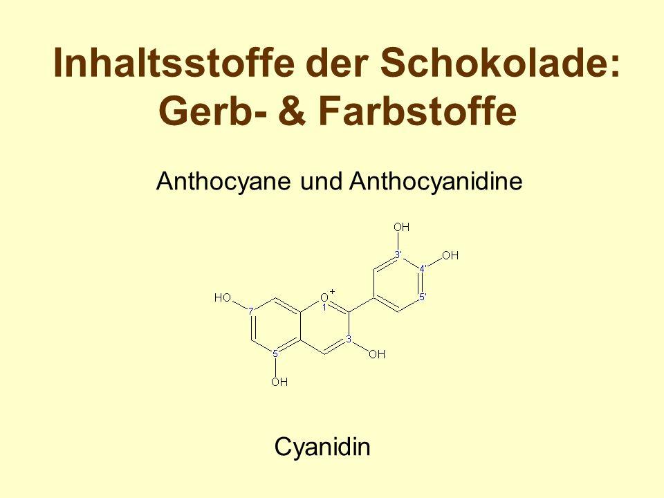 Cyanidin Inhaltsstoffe der Schokolade: Gerb- & Farbstoffe Anthocyane und Anthocyanidine