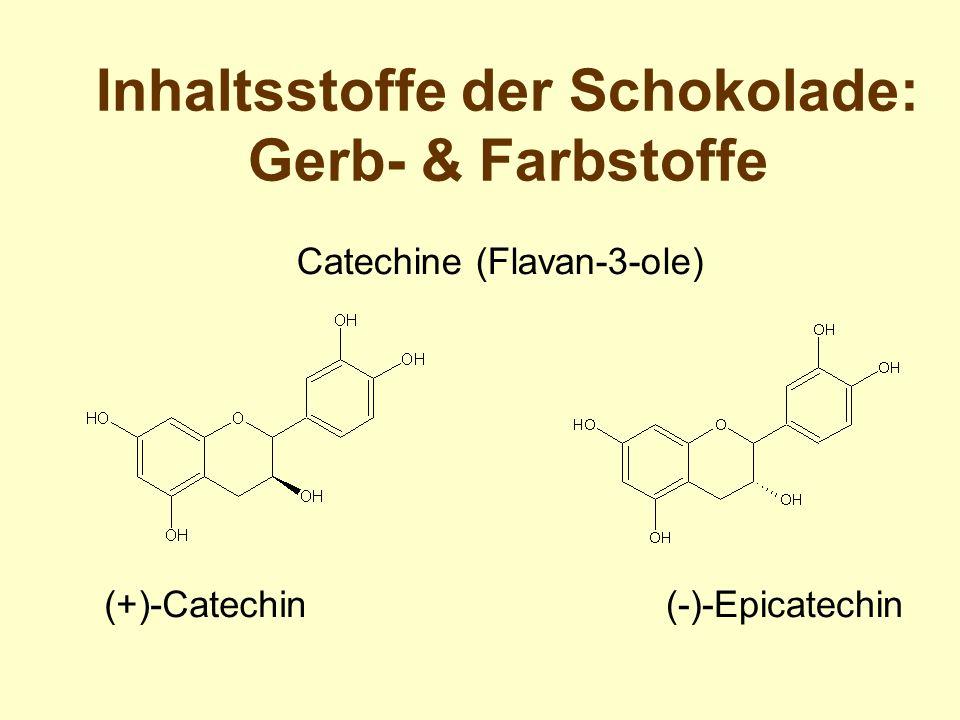 Inhaltsstoffe der Schokolade: Gerb- & Farbstoffe (+)-Catechin(-)-Epicatechin Catechine (Flavan-3-ole)