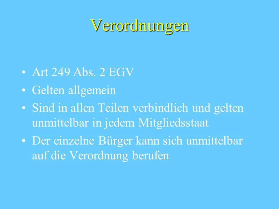 Verordnungen Art 249 Abs.