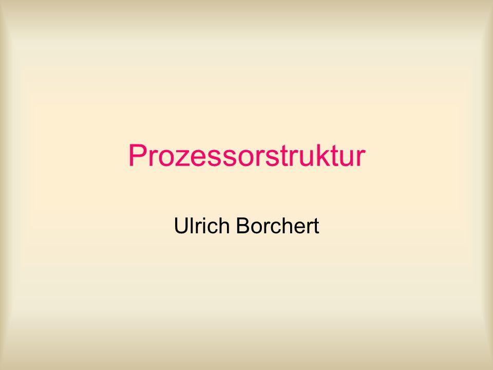 Allgemeine Struktur Prozessor Core Architektur