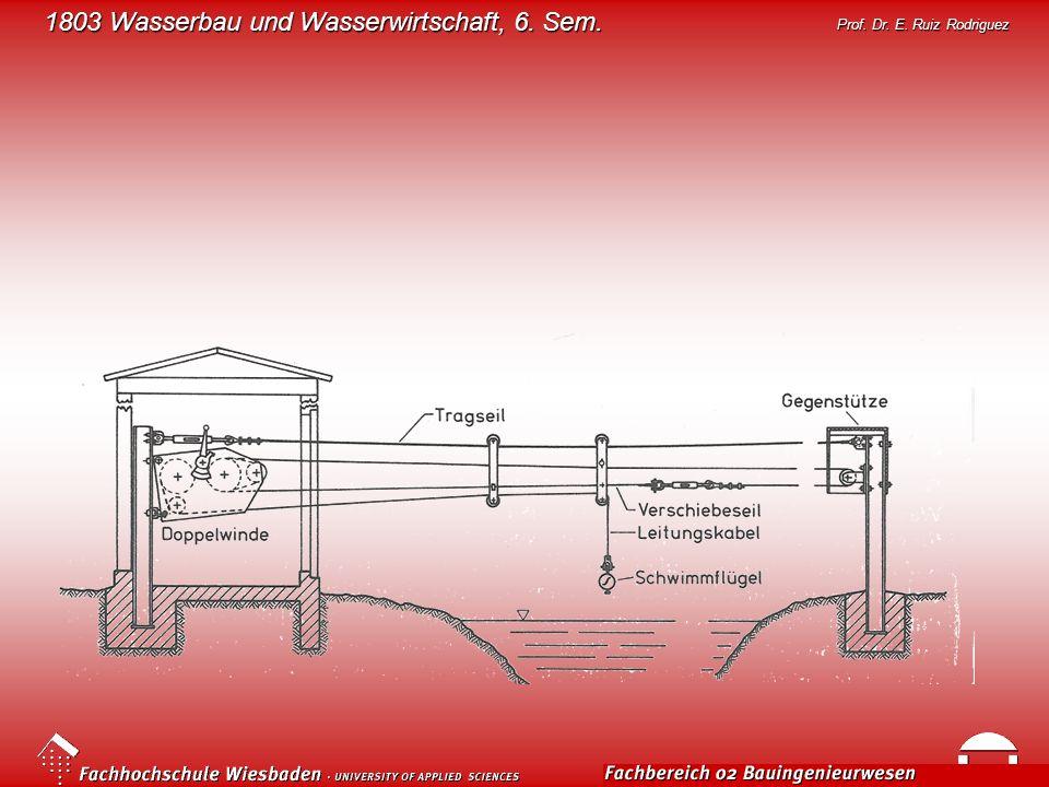 1803 Wasserbau und Wasserwirtschaft, 6. Sem. Prof. Dr. E. Ruiz Rodriguez