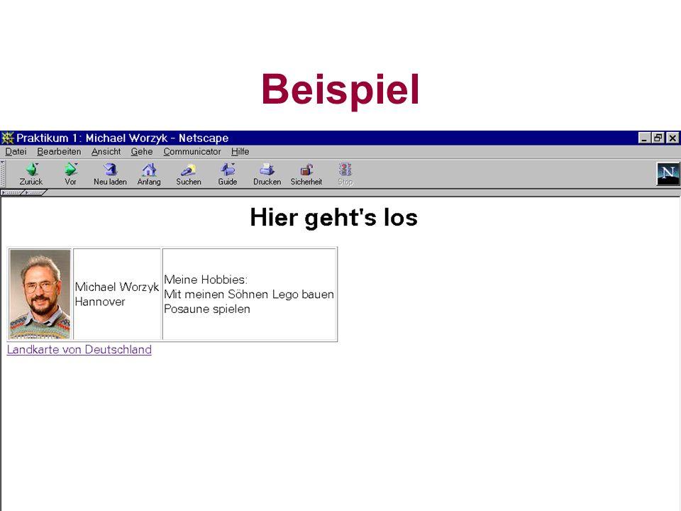 Worzyk FH Anhalt Telemedizin WS 01/02 HTML - 9 Header leitet eine Überschrift ein.
