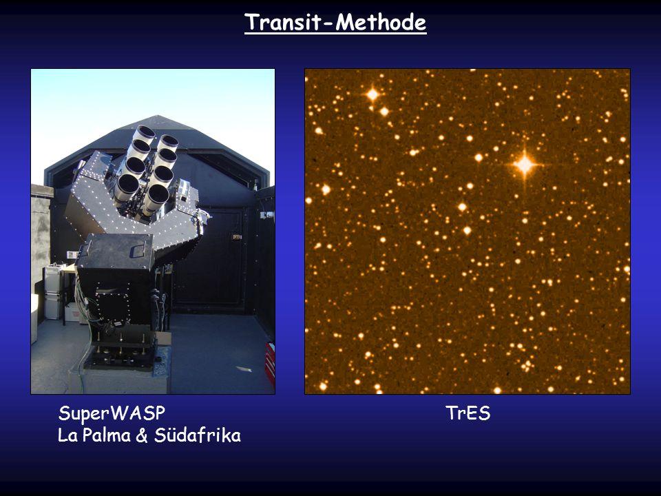 SuperWASP La Palma & Südafrika TrES Transit-Methode