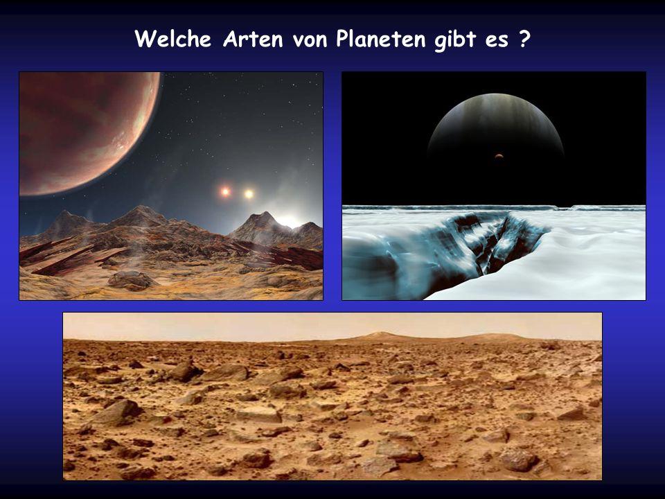 Welche Arten von Planeten gibt es ?