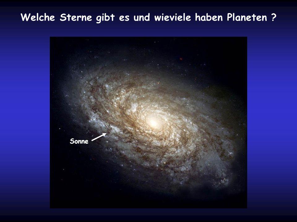 Welche Sterne gibt es und wieviele haben Planeten ? Sonne