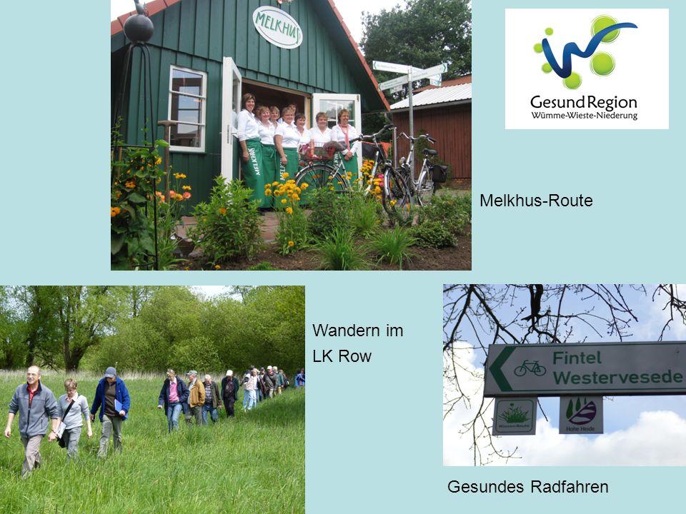 Melkhus-Route Wandern im LK Row Gesundes Radfahren