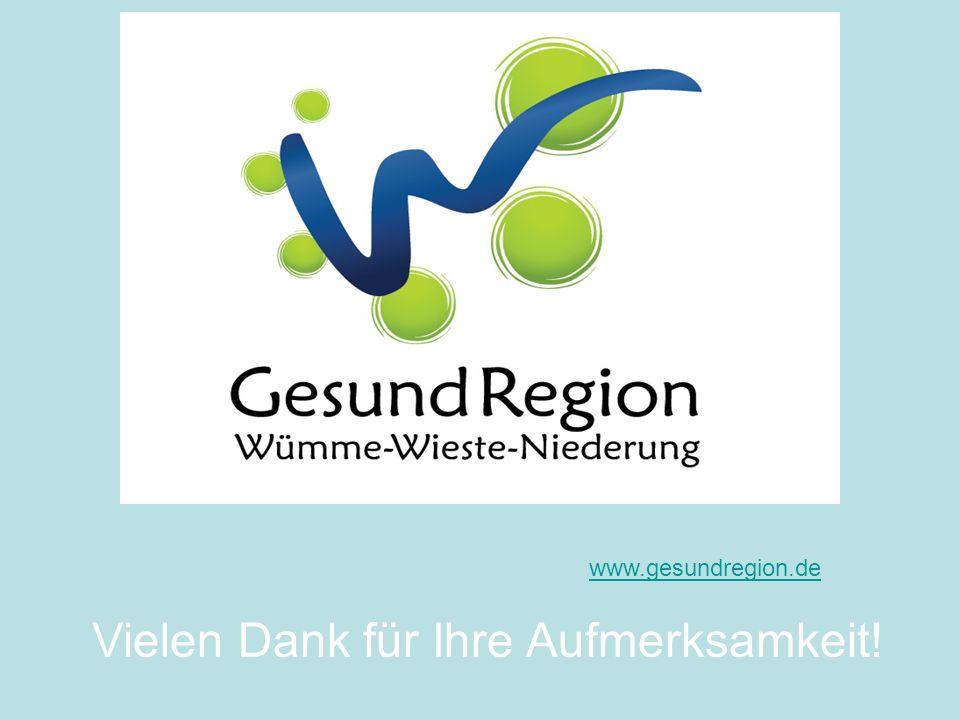 www.gesundregion.de Vielen Dank für Ihre Aufmerksamkeit!