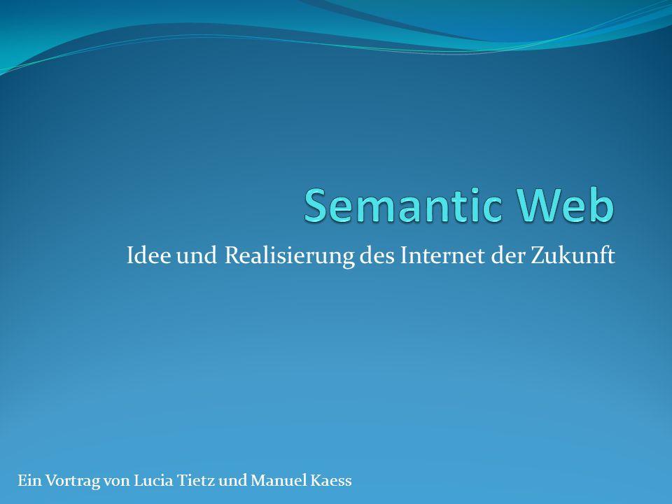 Idee und Realisierung des Internet der Zukunft Ein Vortrag von Lucia Tietz und Manuel Kaess