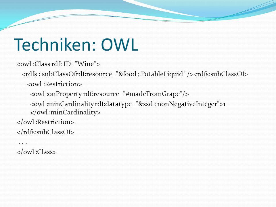 Techniken: OWL 1...