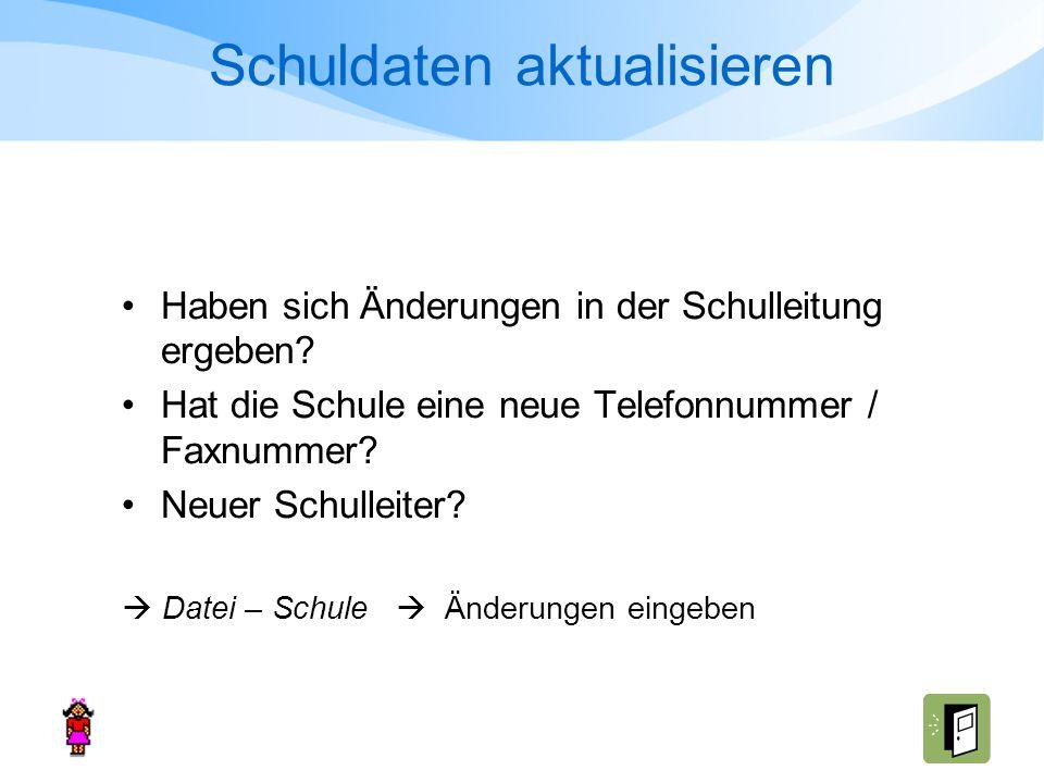 a) Abgänge erfassen (vz/tz) http://www.schule.bayern.de/winsv/WinLD_Hilfen/Loesung__Ab gaenge.pdf http://www.schule.bayern.de/winsv/WinLD_Hilfen/Loesung__Ab gaenge.pdf