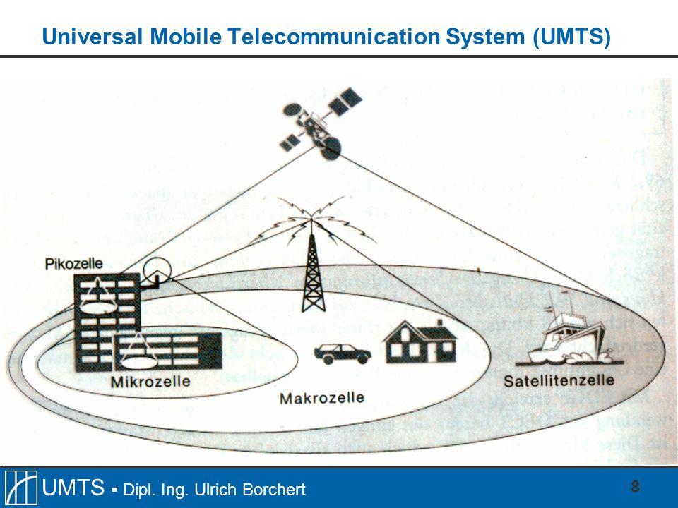 UMTS Dipl. Ing. Ulrich Borchert 8 Universal Mobile Telecommunication System (UMTS)