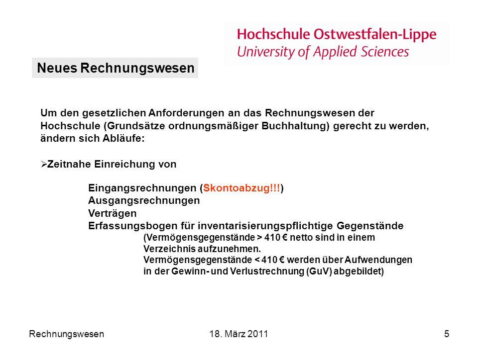 Rechnungswesen18.März 20116 Finanzrechnung Einzahlungen./.