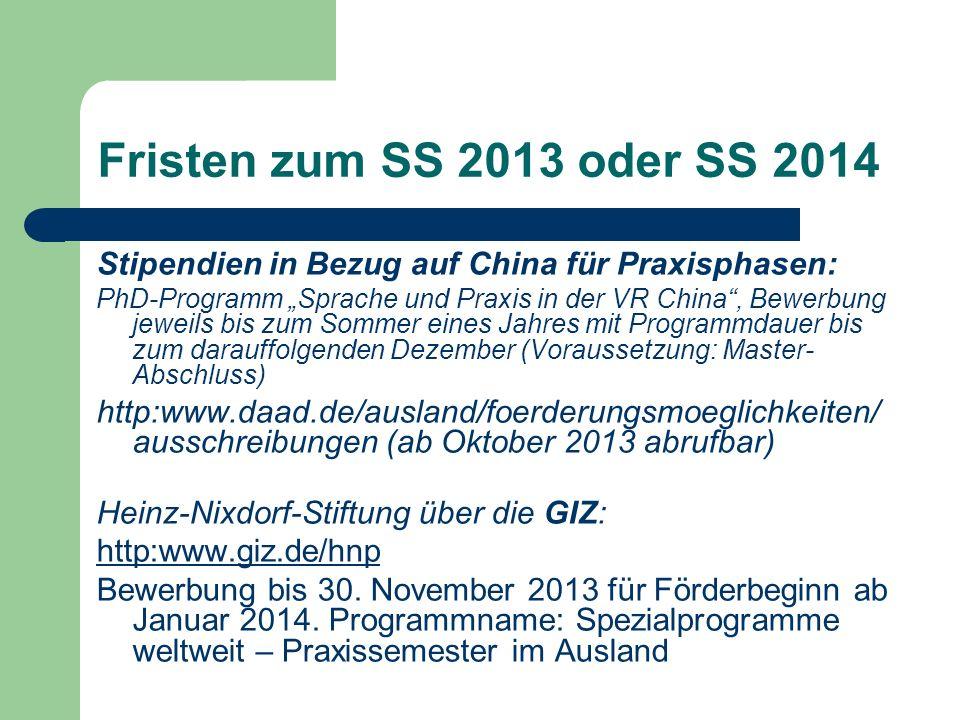 Praktika in China Tipps von Returnees Ihres Studienganges auf der DIO-Webseite der Fakultät 5: Kai Fink (IMEC) Leonie Zimmermann (AWS) AWS-Liste von Prof.