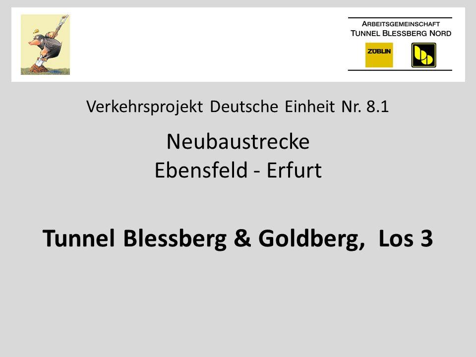 Verkehrsprojekt Deutsche Einheit Nr. 8.1 Neubaustrecke Ebensfeld - Erfurt Tunnel Blessberg & Goldberg, Los 3