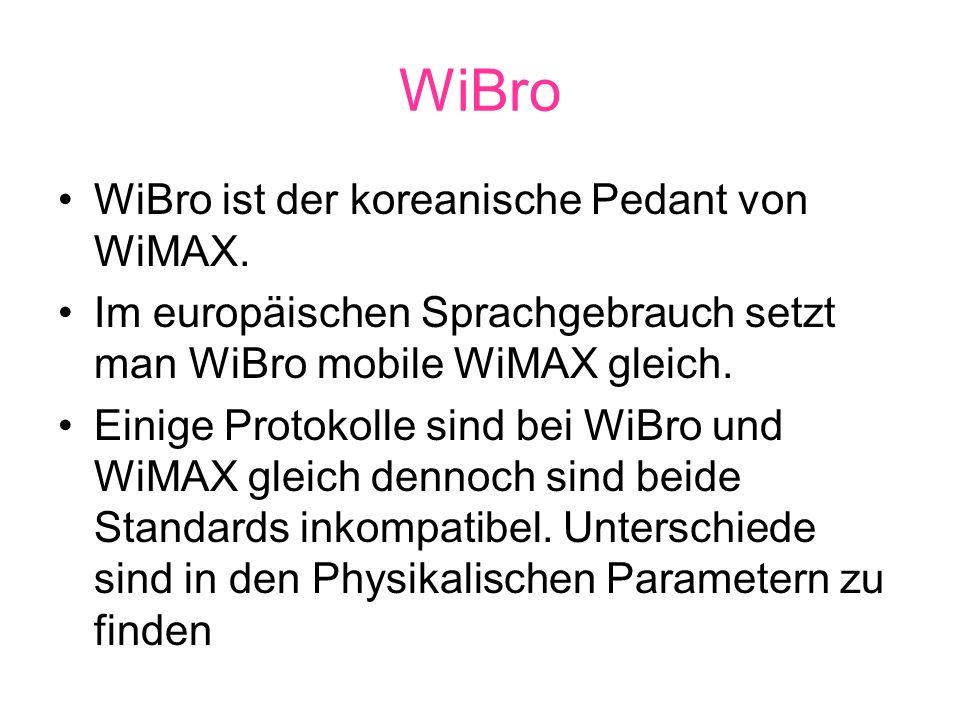 WiBro WiBro ist der koreanische Pedant von WiMAX.