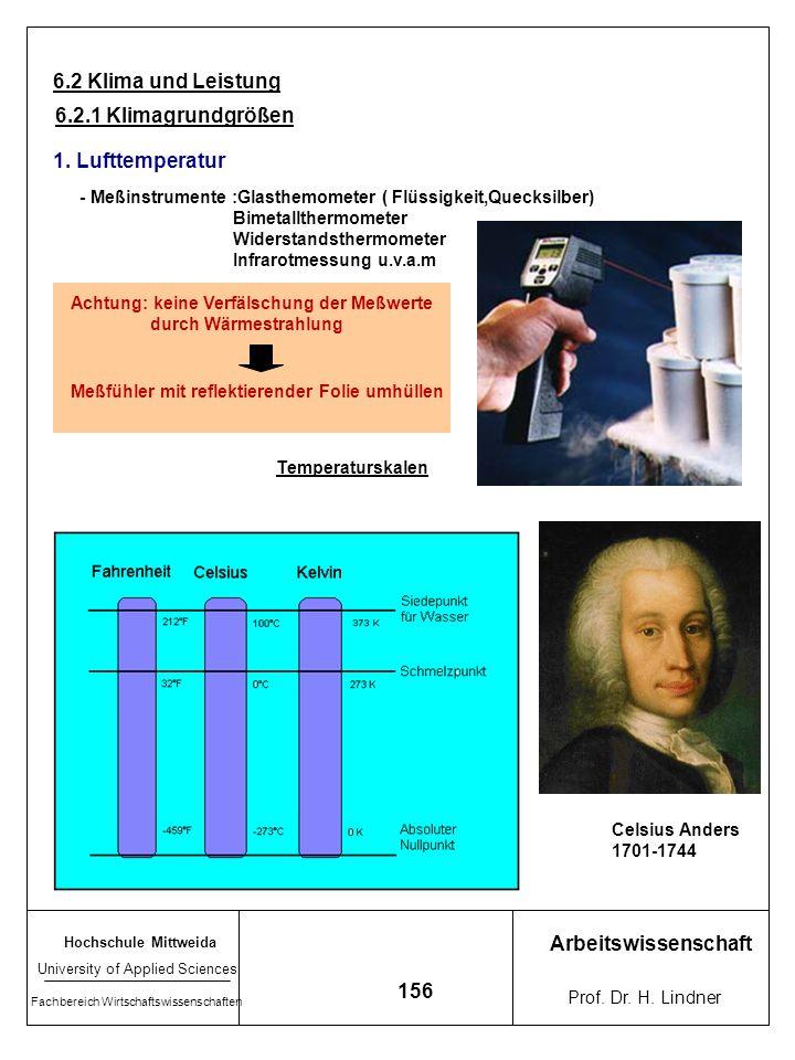 Hochschule Mittweida University of Applied Sciences Fachbereich Wirtschaftswissenschaften Arbeitswissenschaft Prof. Dr. H. Lindner 155 5.1.2 Wärmehaus