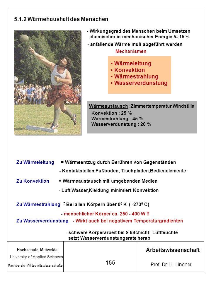 Hochschule Mittweida University of Applied Sciences Fachbereich Wirtschaftswissenschaften Arbeitswissenschaft Prof. Dr. H. Lindner 154 Verlauf Rektalt
