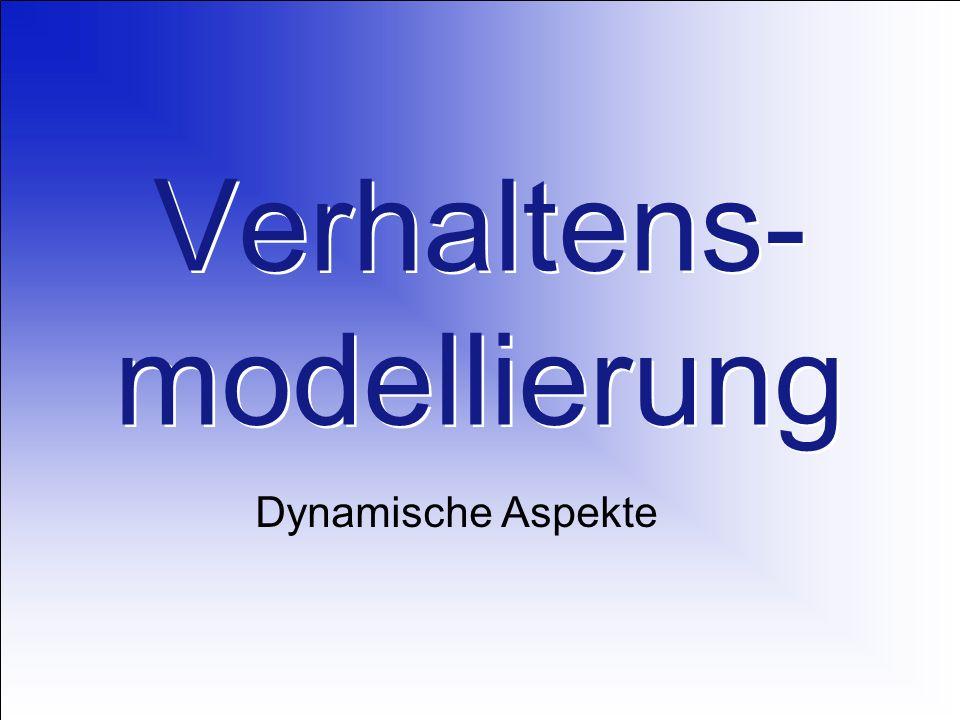 Verhaltens- modellierung Dynamische Aspekte