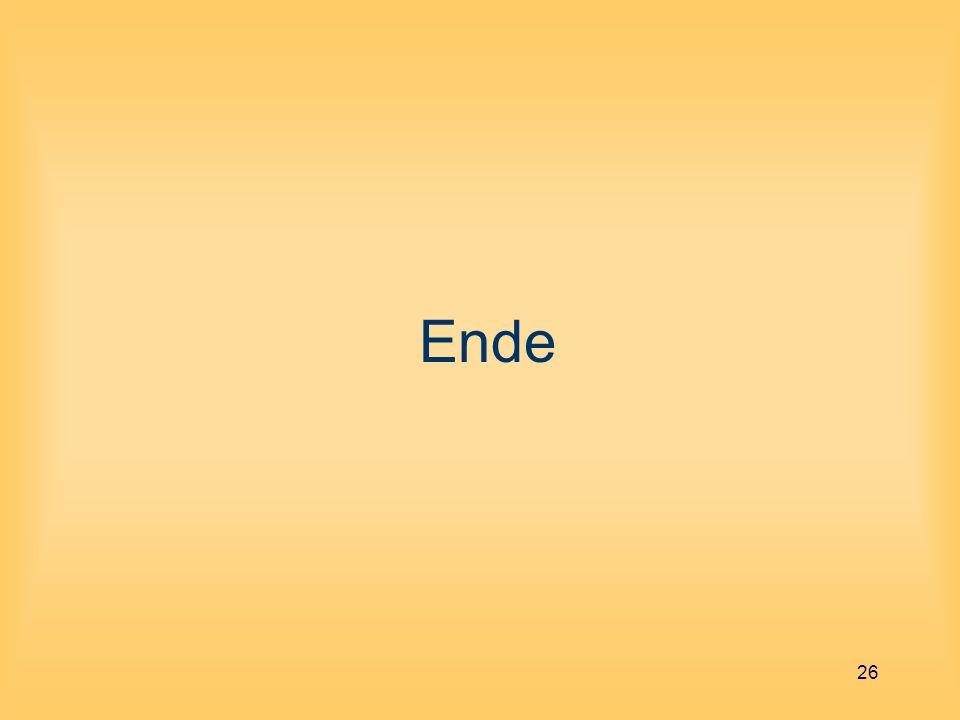 26 Ende