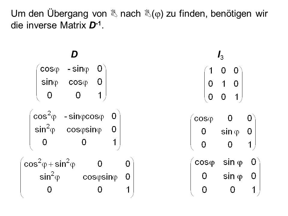Es sei C eine beliebige und C die bekannte Lösung, dann ist A (C - C) = A C - A C = B - B = 0 Also ist (C - C) = C* C = C + C* Jedes homogene Gleichungssystem besitzt mindestens eine Lösung, nämlich die triviale Lösung C* = 0.