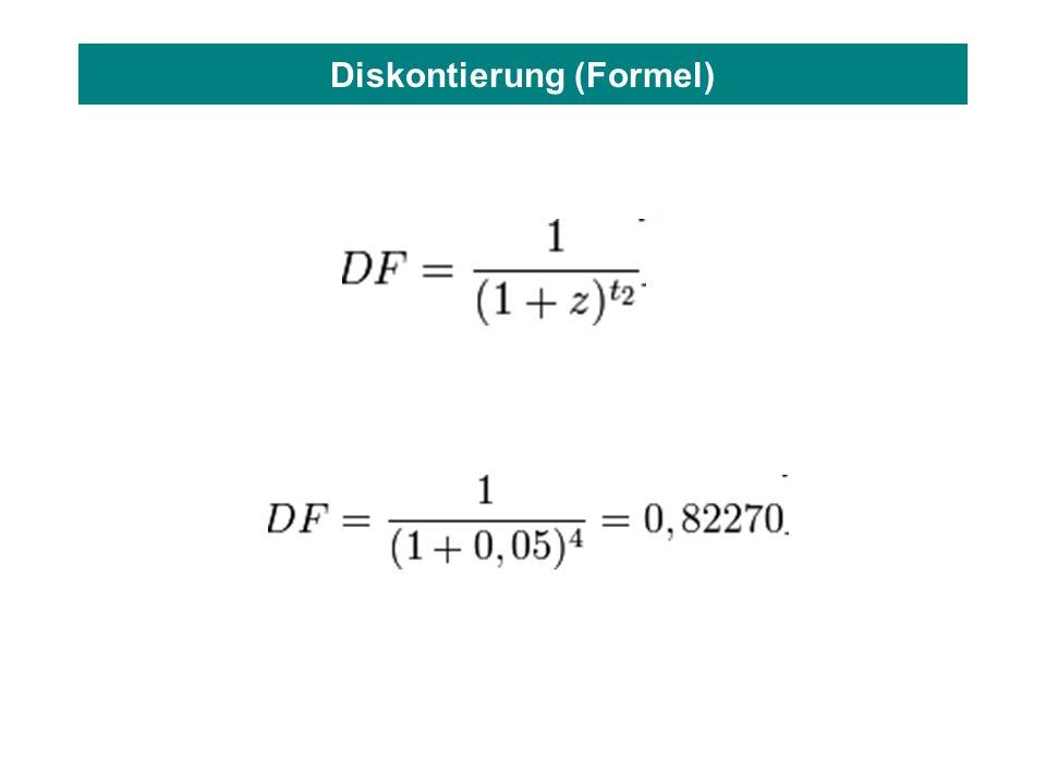 Diskontierung (Formel)
