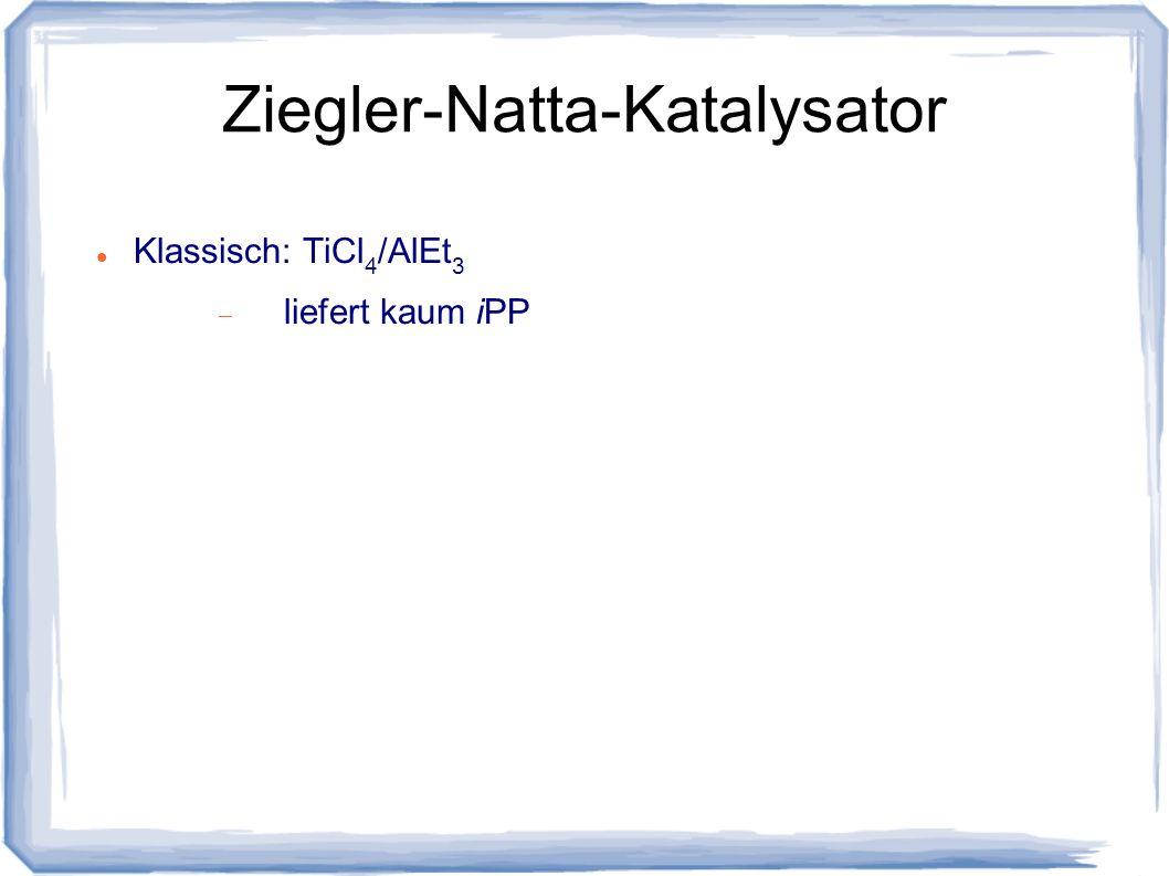 Ziegler-Natta-Katalysator Klassisch: TiCl 4 /AlEt 3 liefert kaum iPP