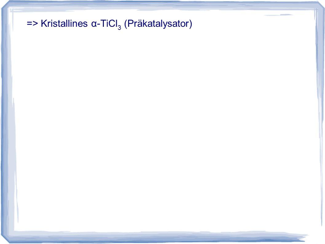 => Kristallines α-TiCl 3 (Präkatalysator)