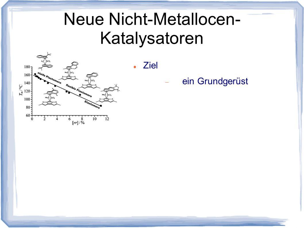 Neue Nicht-Metallocen- Katalysatoren Ziel ein Grundgerüst