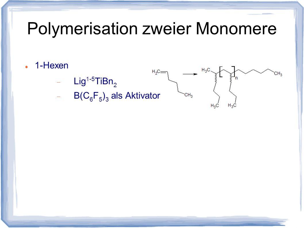 Polymerisation zweier Monomere 1-Hexen Lig 1-5 TiBn 2 B(C 6 F 5 ) 3 als Aktivator