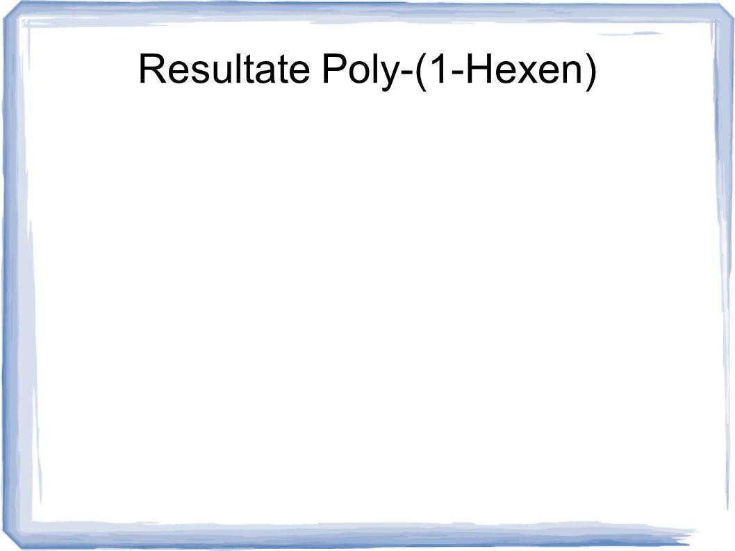 Resultate Poly-(1-Hexen)