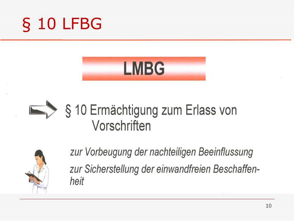 § 10 LFBG 10
