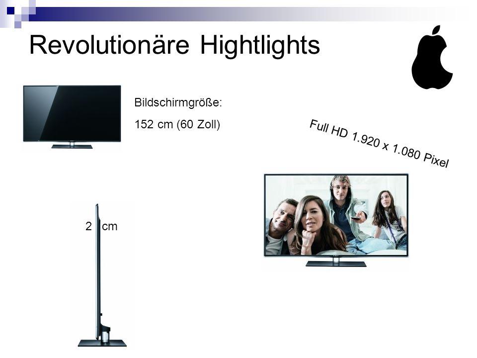 Revolutionäre Hightlights Bildschirmgröße: 152 cm (60 Zoll) Full HD 1.920 x 1.080 Pixel 2 cm