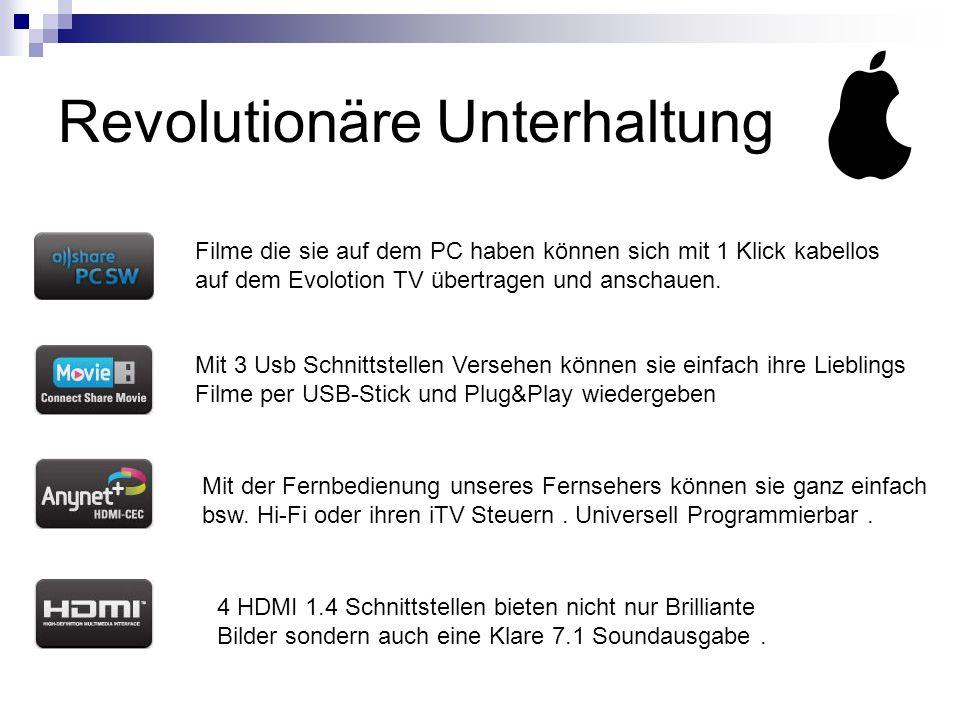 Revolutionäre Unterhaltung Filme die sie auf dem PC haben können sich mit 1 Klick kabellos auf dem Evolotion TV übertragen und anschauen.