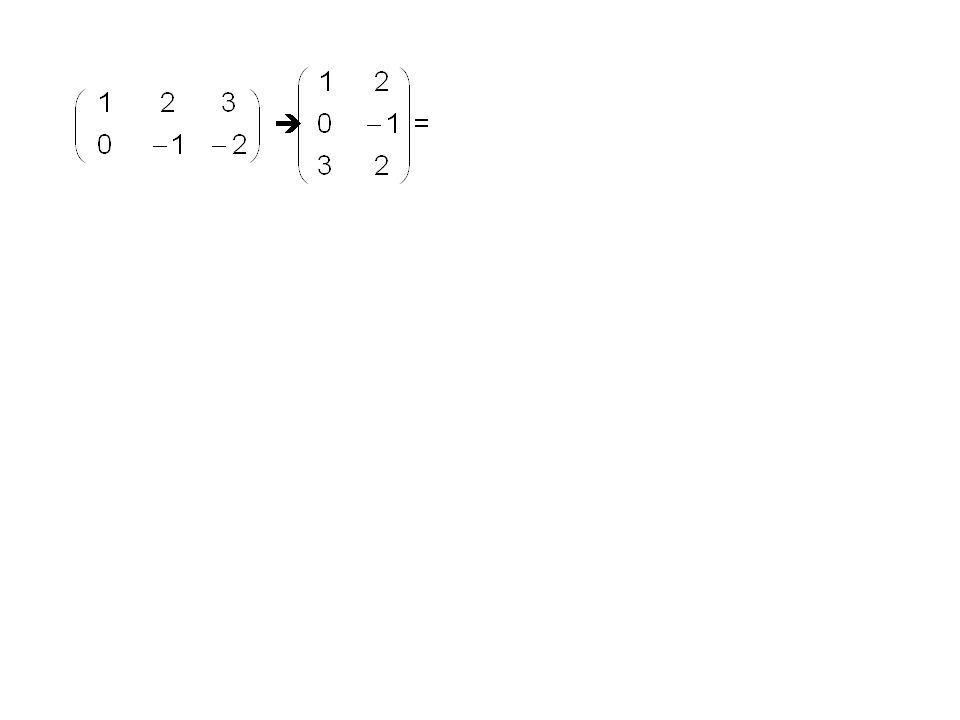 Der zweite Index des ersten Faktors und der erste Index des zweiten Faktors laufen bis n. m n-Matrix n p-Matrix = m p-Matrix = Die Operation ist nicht