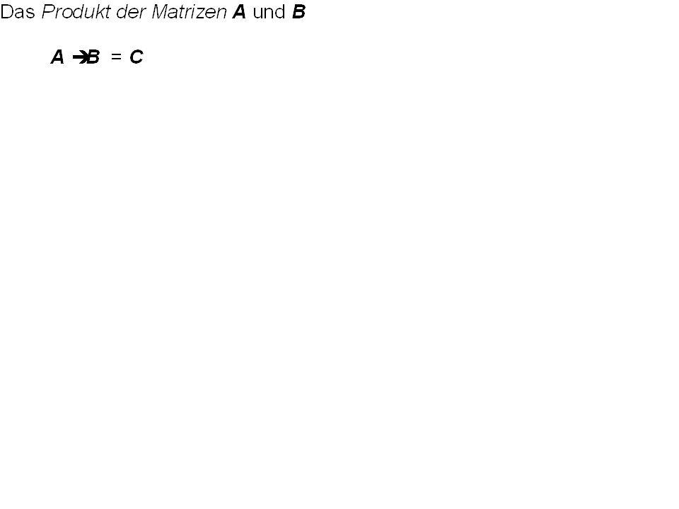 11.1 Addition und Multiplikation von Matrizen A = (a ij ) und B = (b ij ) seien zwei m n-Matrizen. A + B = C mitc ij = a ij + b ij A - B = C mitc ij =