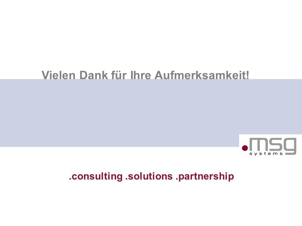 SOA in der Praxis, Robert Meyer, 8.11.2007 28.consulting.solutions.partnership B Vielen Dank für Ihre Aufmerksamkeit!