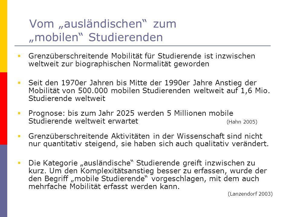 Selbsteinschätzung der Deutschkenntnisse Die Gruppe von Studierenden, die angibt, dass Deutsch für sie eine Fremdsprache ist, setzt sich aus der Gruppe der mobilen Studierenden sowie aus beiden Gruppen von Studierenden aus Einwanderungsfamilien (mit und ohne deutsche Staatsbürgerschaft) zusammen und beschreibt damit eine neue Subgruppe.