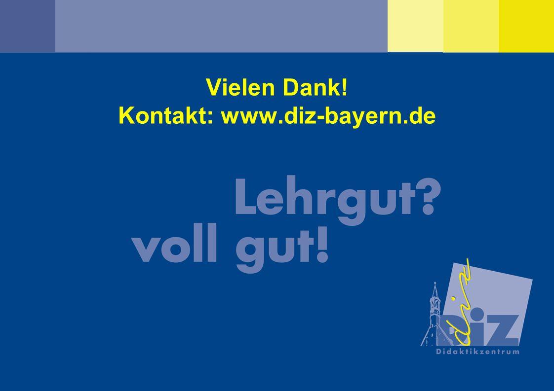 DOSS März 2010Franz Waldherr und Claudia Walter Vielen Dank! Kontakt: www.diz-bayern.de